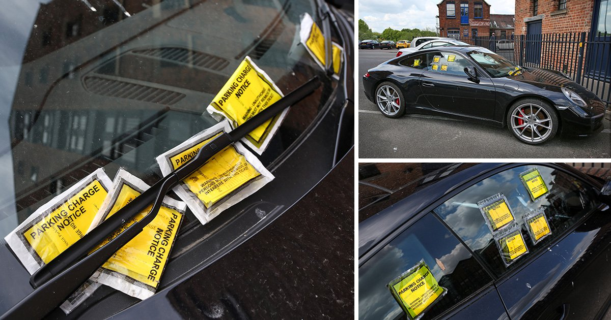 Porsche 911 owner given 10 parking tickets after failing to display his permit