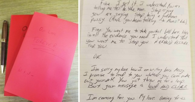 Woman shares creepy diary she was sent by ex colleague