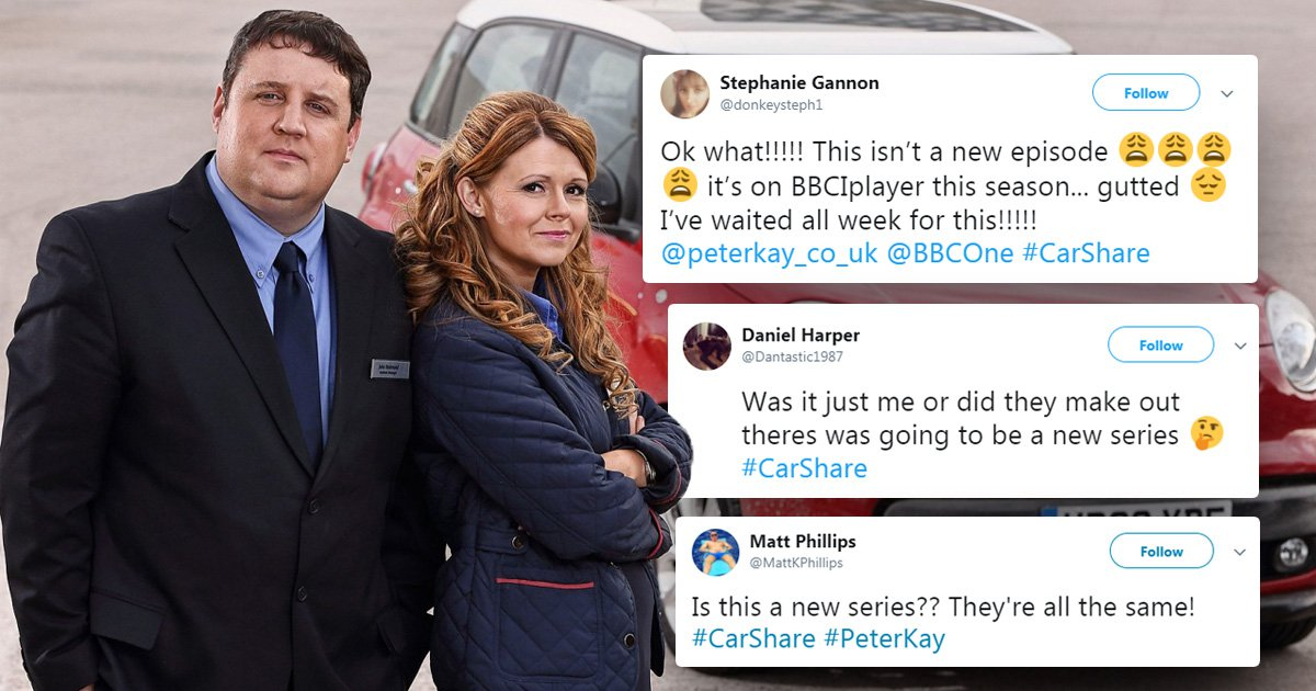 Confused Peter Kay fans left 'furious' after realising BBC showed a Car Share repeat in prime time slot instead of a new series