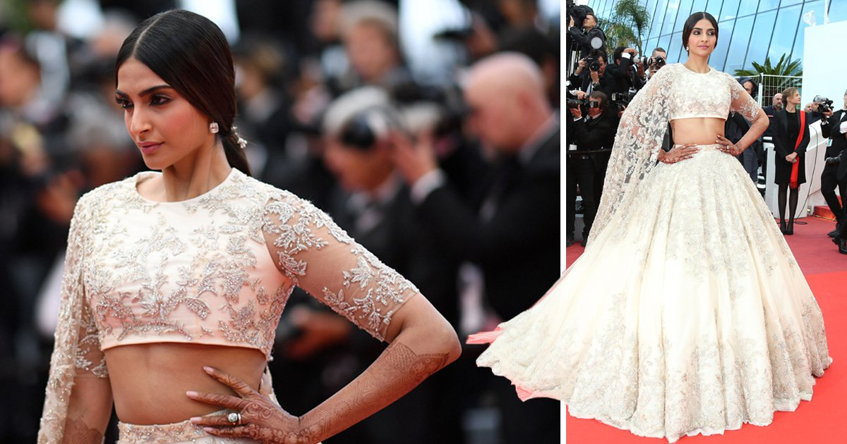 Sonam Kapoor brings Bollywood to Cannes as she smashes red carpet in embellished lehenga
