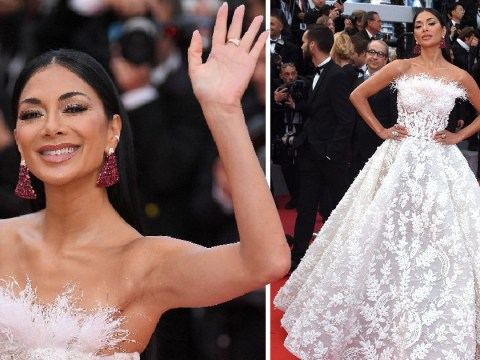 Nicole Scherzinger is human swan in glorious feathered gown at BlacKkKlansman Cannes premiere