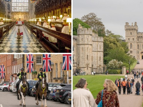 Windsor adds finishing touches to Harry and Meghan's big day with royal wedding rehearsal