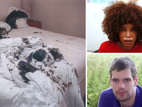 First pictures show acid-stained bed where ex-girlfriend carried out attack