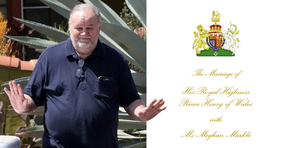 Royal wedding programme says Meghan Markle's dad will still walk her down the aisle