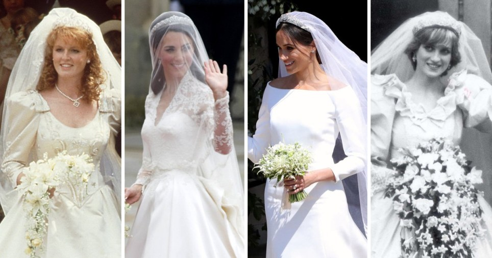 Kate Middletons Wedding Dresses.Meghan Markle S Wedding Dress Compared To Kate Middleton S