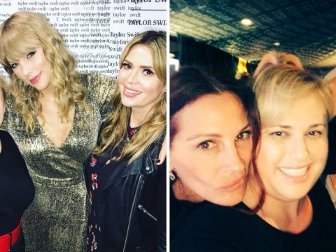 Rebel Wilson is loving life as she parties with Julia Roberts at Taylor Swift concert