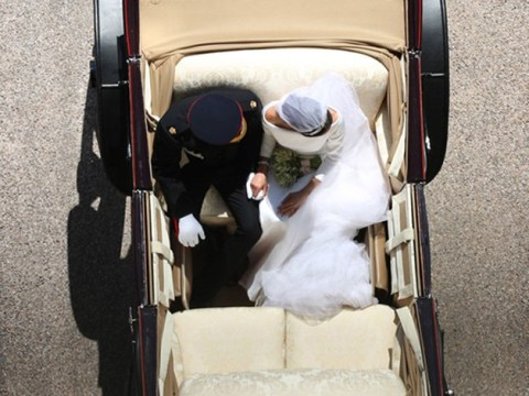 Aerial shot of Harry and Meghan could be the best royal wedding photo