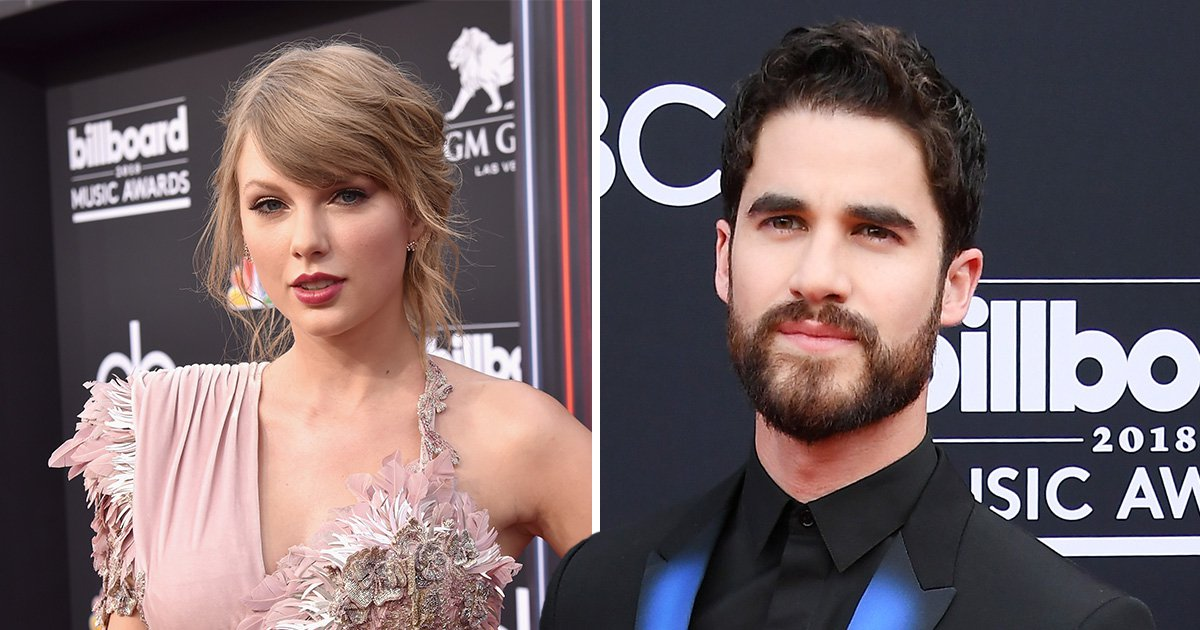 Darren Criss just really wants Taylor Swift to sit down during Shawn Mendes' Billboard performance