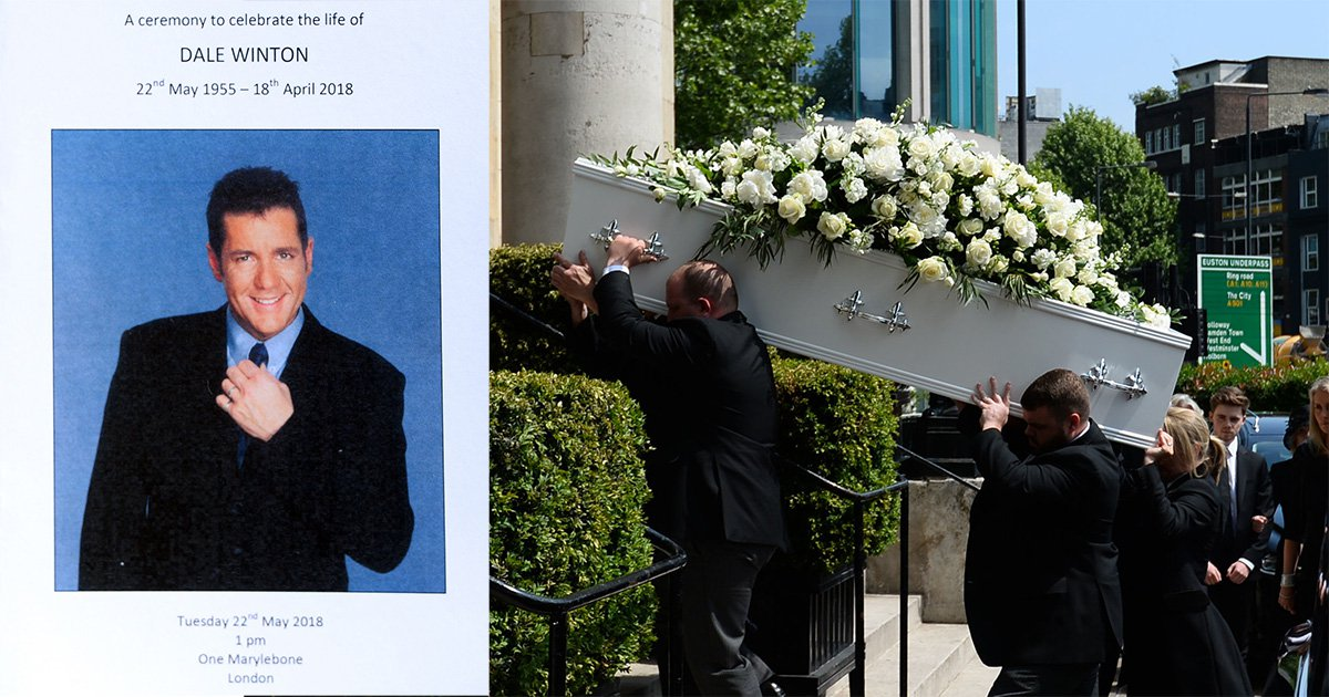 Supermarket Sweep host Dale Winton's funeral held on his birthday as Blue and David Walliams gather to pay respects