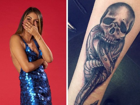 Harry Potter fanatic is such a super fan she has the Dark Mark tattooed on her