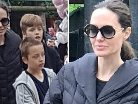 Angelina Jolie takes kids to Legoland after reports custody battle prevented her bringing them to the UK