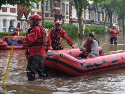 Cars stranded in 5ft deep water as flash floods hit Birmingham