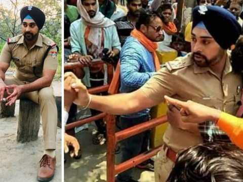 Sikh police officer protected Muslim boy from being attacked by raging mob