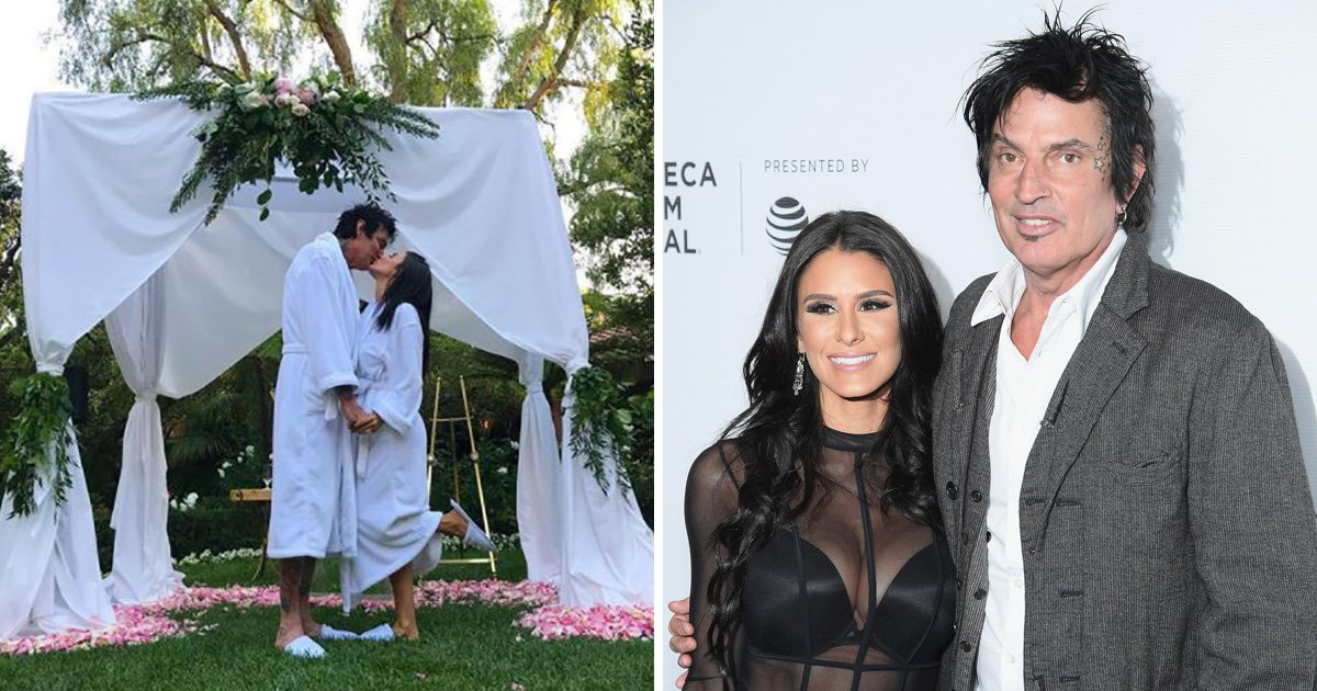 Tommy Lee trolls fans with 'leftover' wedding but insists everyone has to wear bathrobes to actual ceremony