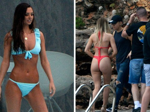 Love Island is already off to a swimwear-clad start as islanders are pictured filming