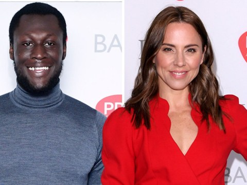 Stormzy and Mel C arrive at the 2018 Ivor Novello awards where the rapper and Ed Sheeran are nominated