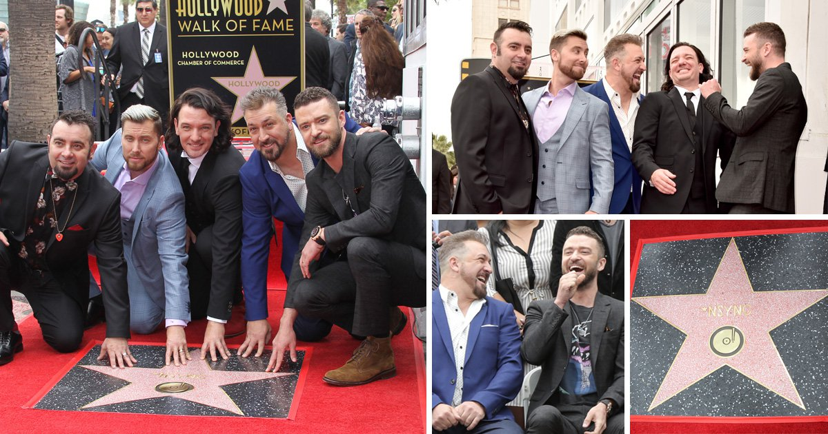 NSYNC reunite on It's Gonna Be May day to receive star on Hollywood Walk of Fame