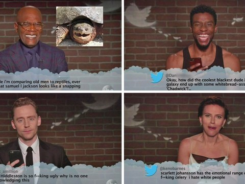 The Avengers: Infinity War cast read out mean tweets on Jimmy Kimmel and Scarlett Johansson was not prepared for the hate