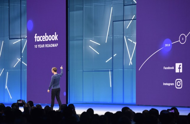 Facebook CEO Mark Zuckerberg speaks during the annual F8 summit at the San Jose McEnery Convention Center in San Jose, California on May 01, 2018. Facebook chief Mark Zuckerberg announced the world's largest social network will soon include a new dating feature -- while vowing to make privacy protection its top priority in the wake of the Cambridge Analytica scandal. / AFP PHOTO / JOSH EDELSONJOSH EDELSON/AFP/Getty Images