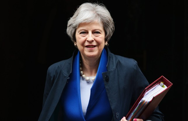 LONDON, ENGLAND - MAY 02: British Prime Minister Theresa May leaves 10 Downing Street to attend Prime Minister's Questions at the Houses of Parliament on May 2, 2018 in London, England. (Photo by Jack Taylor/Getty Images)