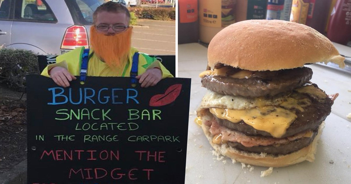 Burger van's 'midget' promotion didn't go down too well