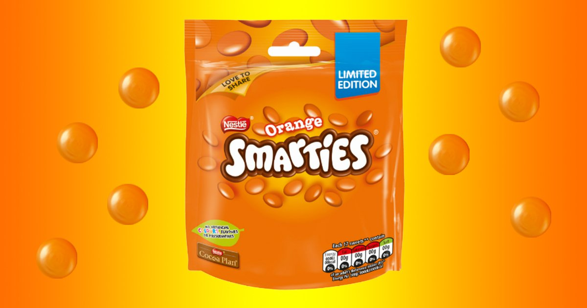 Asda is selling limited edition pouches of Orange Smarties for £1