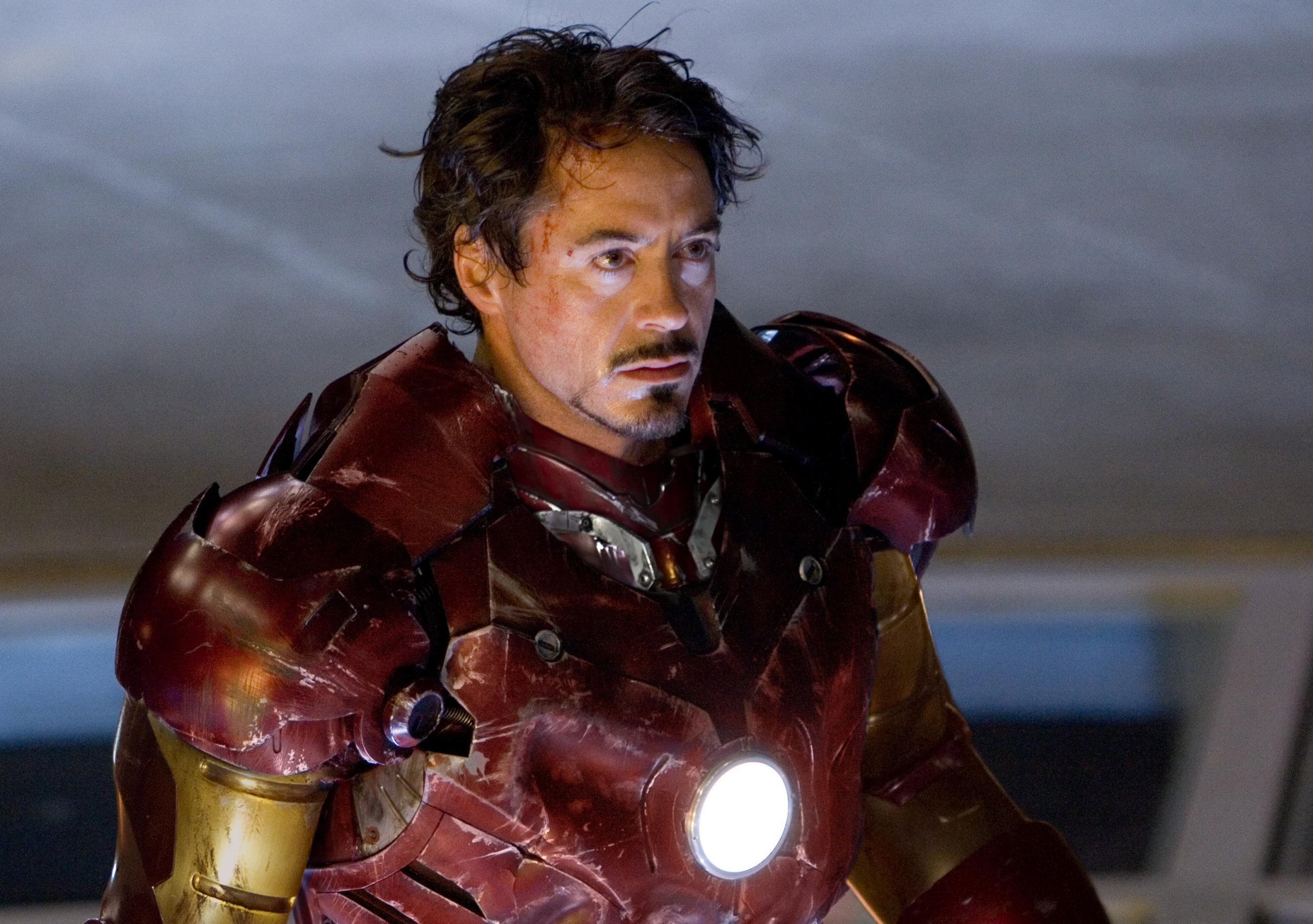 No Merchandising. Editorial Use Only. No Book Cover Usage. Mandatory Credit: Photo by Marvel/Paramount/Kobal/REX/Shutterstock (5886260f) Robert Downey Jr Iron Man - 2008 Director: Jon Favreau Marvel/Paramount USA Scene Still Animation Ironman