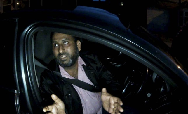 Dated: 05/05/2018 Married dad Saber Ali, who has been jailed for 15 months at Newcastle Crown Court after he turned up to a meet a 14-year-old virgin for sex, not realising he had been speaking to paedophile hunters Guardians of the North. Pictured at the time he was confronted. See story and video North News