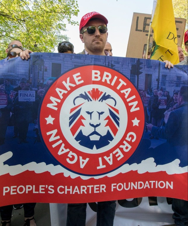 Thousands of protesters gathered from for a Day of Freedom organised by Tommy Robinson & the EDL. There was a march from Speakers Corner to Whitehall and then talks from members of the EDL. Tempers ran fruaght with minor scuffles between both parties. (Picture: A.Crawley/Metro.co.uk)