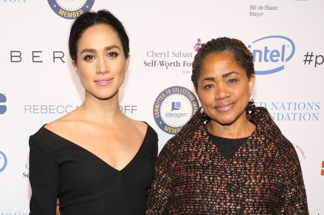 NEW YORK, NY - MARCH 10: Meghan Markle and Doria Ragland attend UN Women's 20th Anniversary of the Fourth World Conference of Women in Beijing at Manhattan Centre at Hammerstein Ballroom on March 10, 2015 in New York City. (Photo by Sylvain Gaboury/Patrick McMullan via Getty Images)