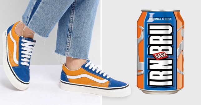 Everyone Thinks This Pair Of Vans Look Like Irn Bru