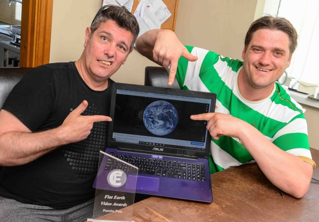 "A Grimsby man who believes that the Earth is flat is calling on bookmakers to accept his bet after he has been rejected by a number of the main national bookies. Gerrard Gallacher, of Eastern Inway, has attempted to bet a number of national bookmakers up to ?100 that the Earth is flat, however is constantly being rejected by them, as they say that his request is ""invalid"". But Gerrard firmly believes that he will win the bet, and in doing so could end up costing bookies millions of pounds. He also feels that if the betting agents feel that he is 100 per cent wrong and won't pay out on the bet, they should at least accept it. William Hill have famously in the past accepted bets from people who believed that Elvis Presley was going to make a comeback in the late 90s. Poncho Pete and Jez Gallacher, right, from Grimsby who believe the earth is flat. Picture: Jon Corken Buy this photo at www.grimsbytelegraph.co.uk/buyaphoto or by calling the free number 03444 060 910 Story by: News Date: 08/05/2018 Keywords:"