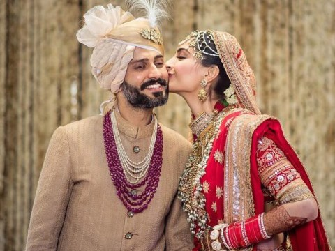 Sonam Kapoor kisses Anand Ahuja in first Instagram picture as husband and wife