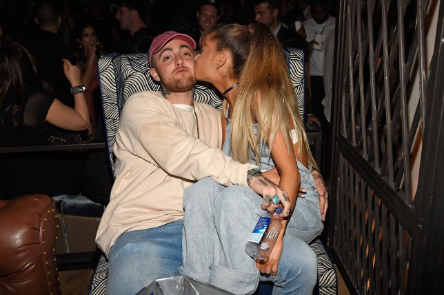 NEW YORK, NY - AUGUST 28: Rapper Mac Miller (L) and singer Ariana Grande attend the 2016 MTV Video Music Awards Republic Records After Party on August 28, 2016 in New York City. (Photo by Kevin Mazur/WireImage)