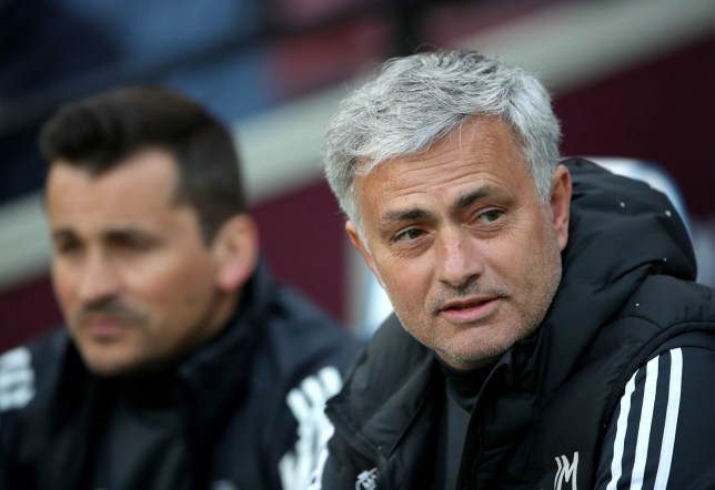 """Manchester United manager Jose Mourinho during the Premier League match at London Stadium. PRESS ASSOCIATION Photo. Picture date: Thursday May 10, 2018. See PA story SOCCER West Ham. Photo credit should read: Nick Potts/PA Wire. RESTRICTIONS: EDITORIAL USE ONLY No use with unauthorised audio, video, data, fixture lists, club/league logos or """"live"""" services. Online in-match use limited to 75 images, no video emulation. No use in betting, games or single club/league/player publications."""