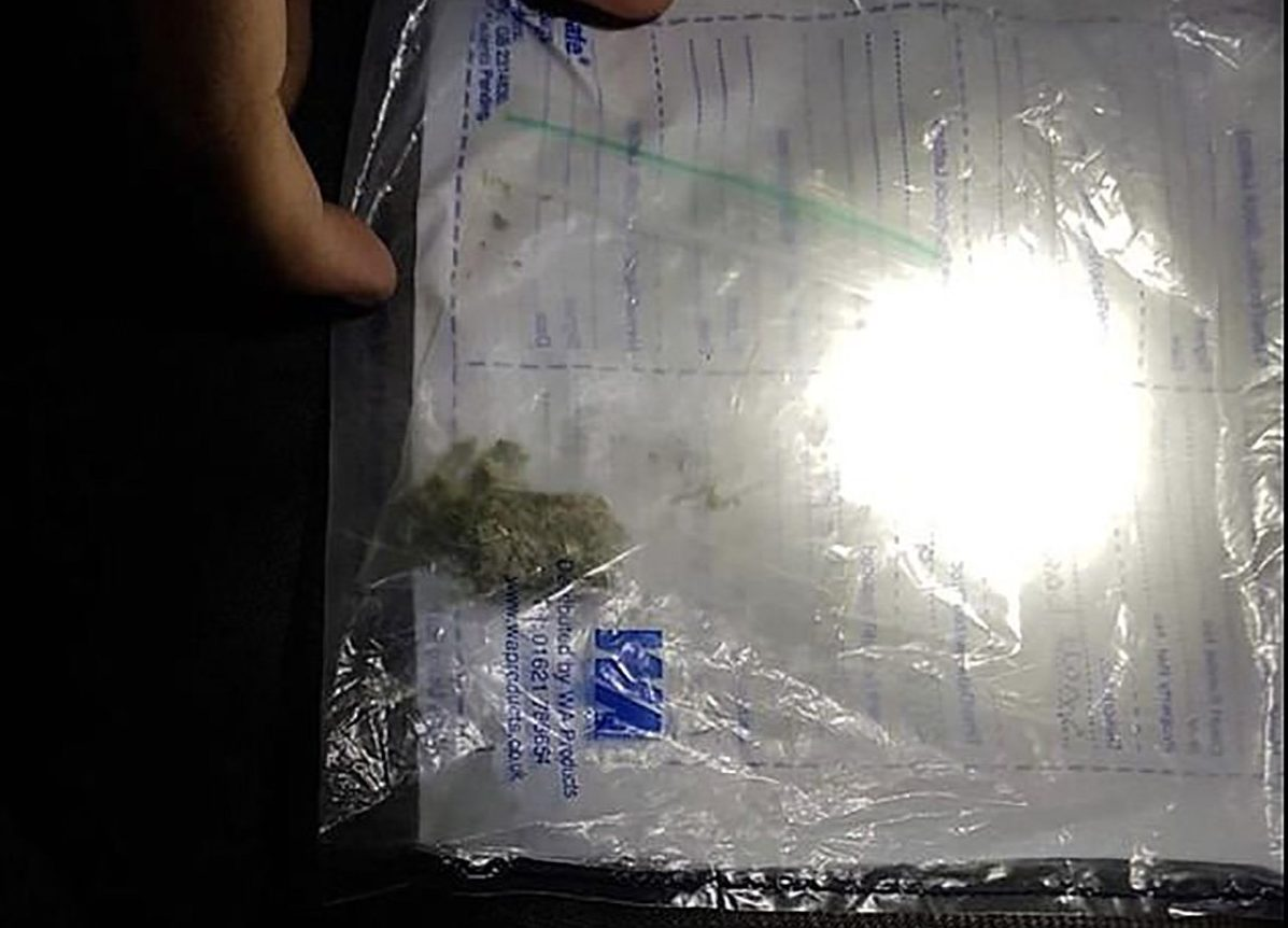 Police threaten to arrest after they were mocked for seizing tiny amount of cannabis METRO GRAB taken from: https://www.facebook.com/WYPWakefieldRural/ POST HAS NOW BEEN ALTERED/REMOVED Credit: West Yorkshire Police - Wakefield Rural/Facebook