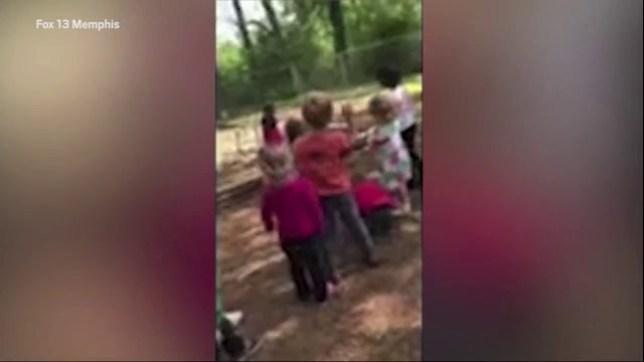 Teacher 'told children to throw rocks at boy, 4, as a
