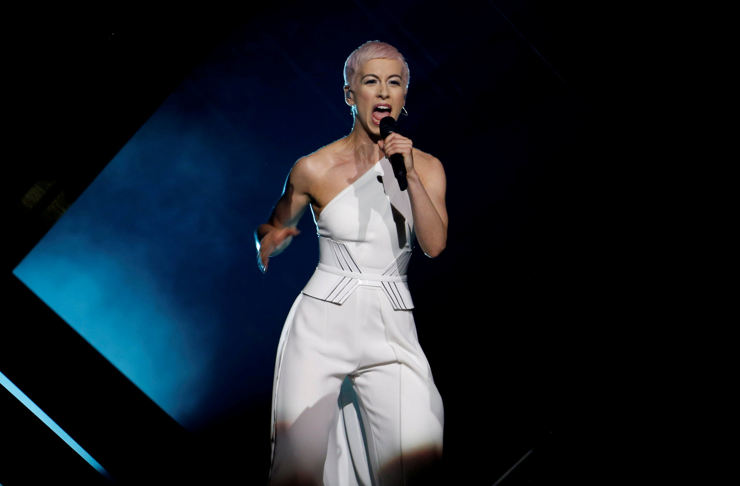 SuRie decides not to perform her Eurovision final song Storm again after stage invader
