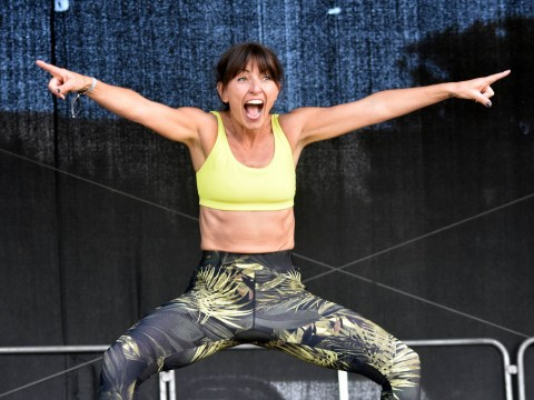 Davina McCall, 50, is abs-olute fitness goals as she works up sweat with bunch of fans