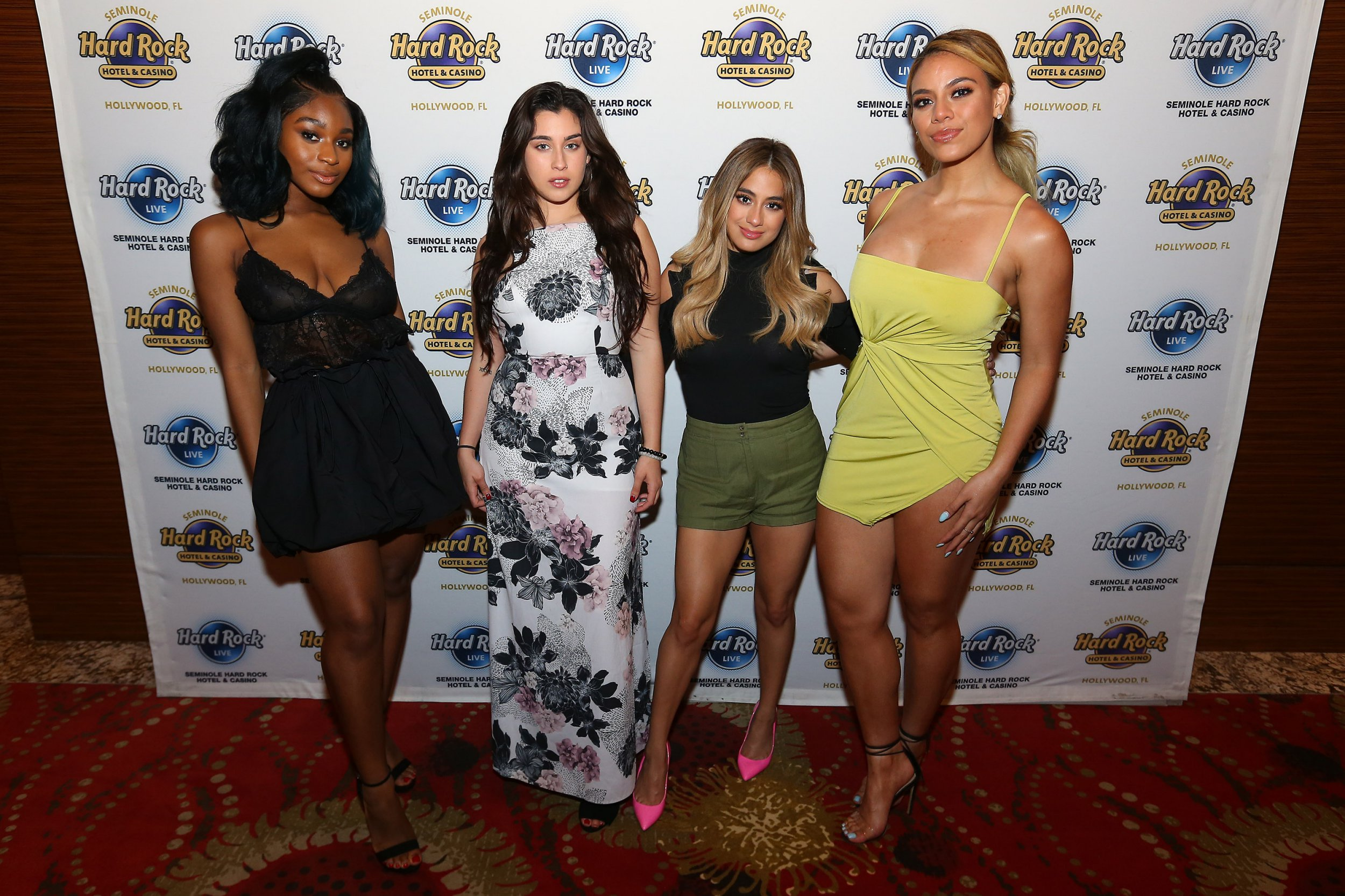 Fifth Harmony performed for the last time in the United States on Friday night. Ally Brooke, Dinah Jane, Lauren Jauregui and Normani Kordei were all smiles when they took their final bow as Fifth Harmony at Seminole Hard Rock Hotel & Casino in Hollywood, Fla. 11 May 2018 Pictured: Ally Brooke, Dinah Jane, Lauren Jauregui and Normani Kordei. Photo credit: Ralph Notaro / MEGA TheMegaAgency.com +1 888 505 6342