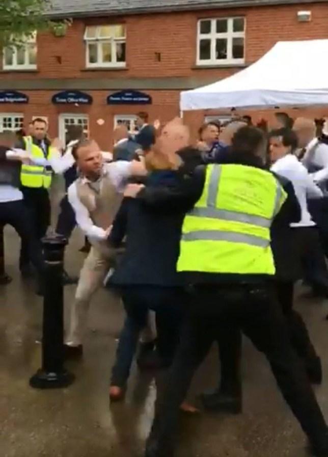 Huge brawl at Ascot