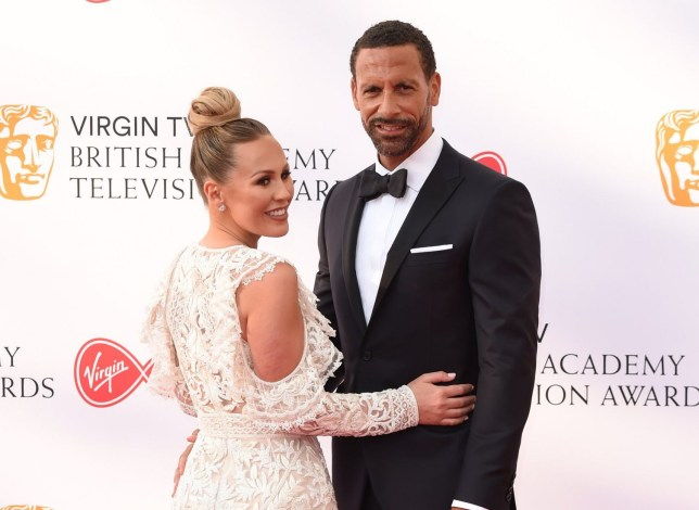 Mandatory Credit: Photo by FeatureflashSHM/REX/Shutterstock (9670754ij) Rio Ferdinand and Kate Wright British Academy Television Awards, Arrivals, Royal Festival Hall, London, UK - 13 May 2018