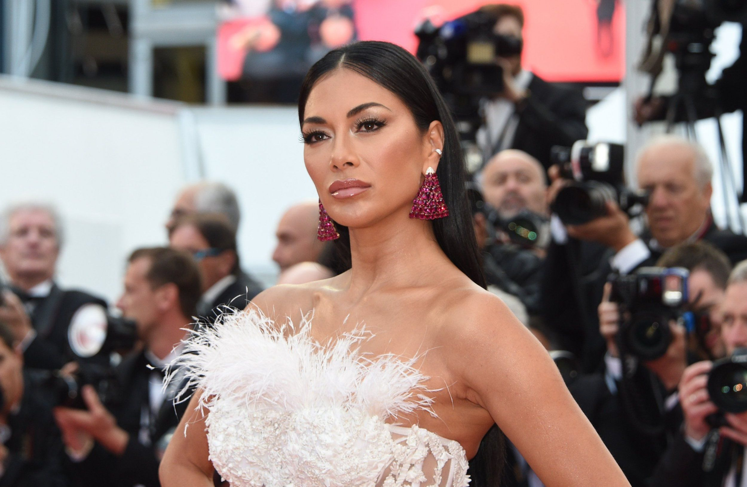 """CANNES, FRANCE - MAY 14: Nicole Scherzinger attends the screening of """"Blackkklansman"""" during the 71st annual Cannes Film Festival at Palais des Festivals on May 14, 2018 in Cannes, France. (Photo by Stephane Cardinale - Corbis/Corbis via Getty Images)"""