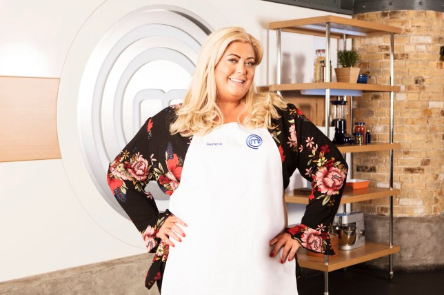 Embargoed to 0001 Wednesday May 16 For use in UK, Ireland or Benelux countries only Undated BBC handout photo of Gemma Collins, who is one of the contestants in this year's BBC1 cookery show, Celebrity MasterChef. PRESS ASSOCIATION Photo. Issue date: Wednesday May 16, 2018. See PA story SHOWBIZ MasterChef. Photo credit should read: Shine TV/BBC/PA Wire NOTE TO EDITORS: Not for use more than 21 days after issue. You may use this picture without charge only for the purpose of publicising or reporting on current BBC programming, personnel or other BBC output or activity within 21 days of issue. Any use after that time MUST be cleared through BBC Picture Publicity. Please credit the image to the BBC and any named photographer or independent programme maker, as described in the caption.