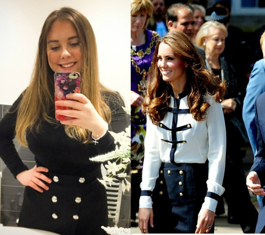 1b2ae0597fb Ruby in a replica version of a skirt Kate wore in Birmingham in 2011 (PA