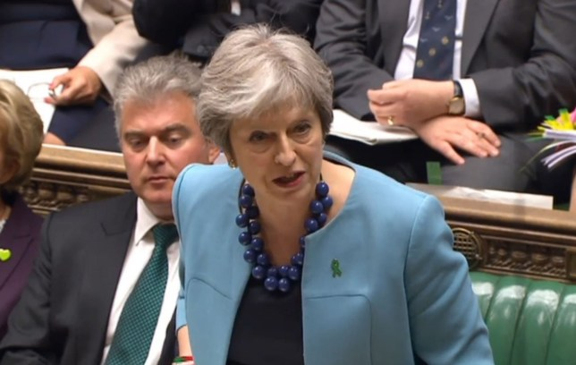 Prime Minister Theresa May speaks during Prime Minister's Questions in the House of Commons, London. PRESS ASSOCIATION Photo. Picture date: Wednesday May 16, 2018. See PA story POLITICS PMQs May. Photo credit should read: PA Wire