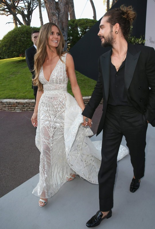 CAP D'ANTIBES, FRANCE - MAY 17: Heidi Klum and Tom Kaulitz arrive at the amfAR Gala Cannes 2018 at Hotel du Cap-Eden-Roc on May 17, 2018 in Cap d'Antibes, France. (Photo by Gisela Schober/Getty Images)