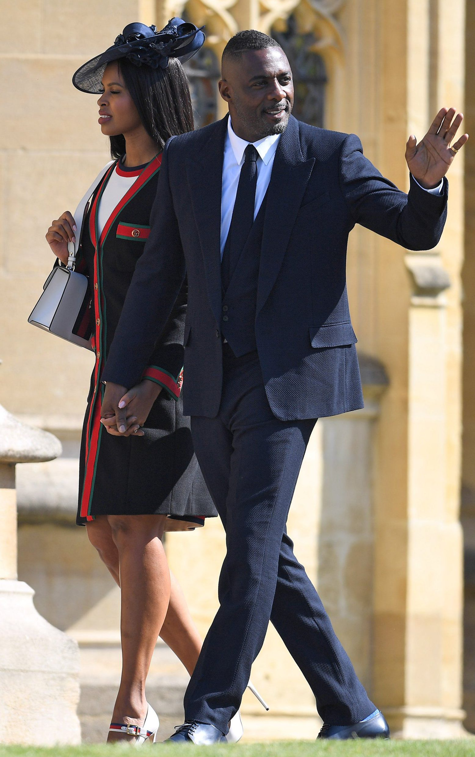 Mandatory Credit: Photo by James Gourley/REX/Shutterstock (9685475a) Idris Elba and Sabrina Dhowre The wedding of Prince Harry and Meghan Markle, Pre-Ceremony, Windsor, Berkshire, UK - 19 May 2018