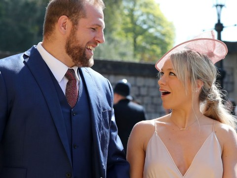 Chloe Madeley and James Haskell join host of famous faces at the royal wedding
