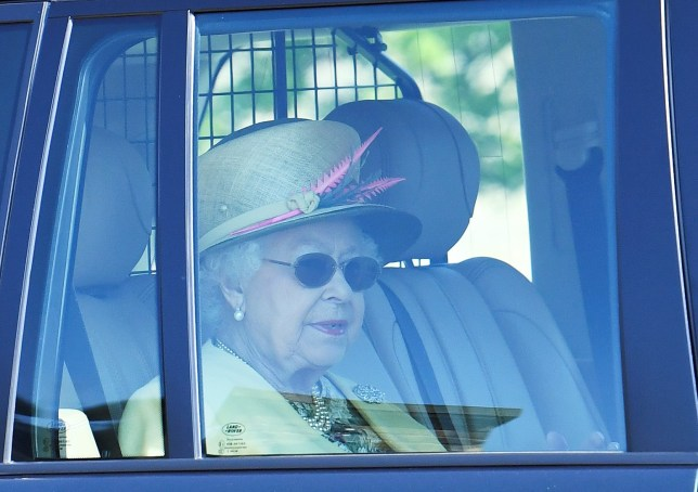 Britain's Queen Elizabeth leaves Windsor Castle the day after her grandson Prince Harry married Meghan, the Duchess of Sussex, in Windsor, Britain May 20, 2018. REUTERS/Dylan Martinez